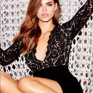 Lulu's SWOON-ER OR LATER BLACK LACE DRESS